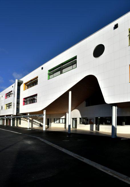 Chevilly-Larue Liberté secondary school rainscreen cladding