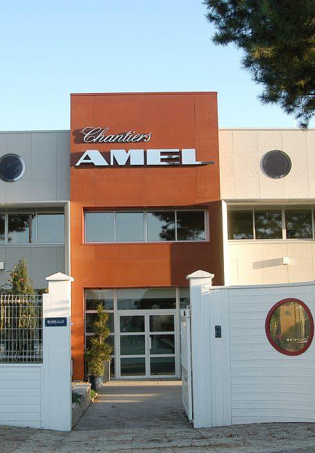 Amel shipyard in Périgny, France